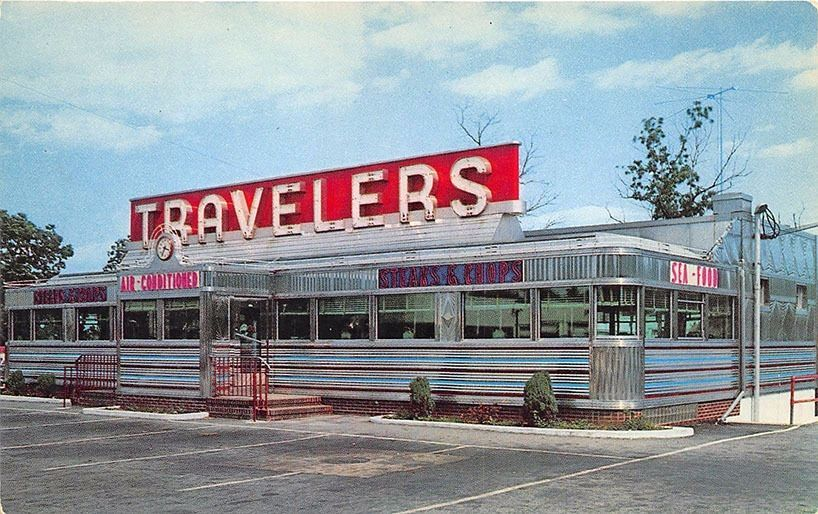 Dover Nj Traveler S Diner On Route 46 Postcard