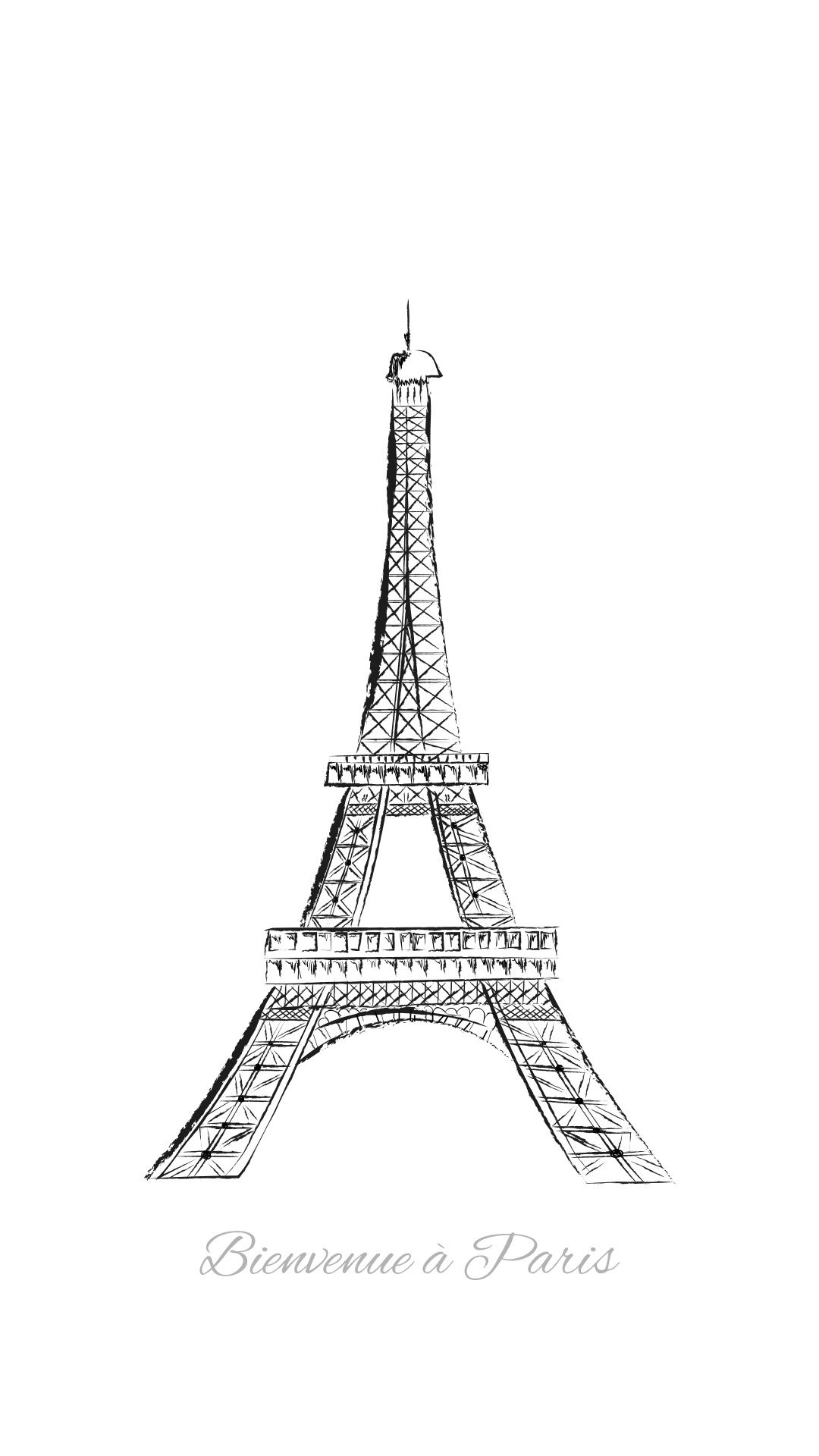 Eiffel Tower Drawing Tap To See More Eiffel Tower Art