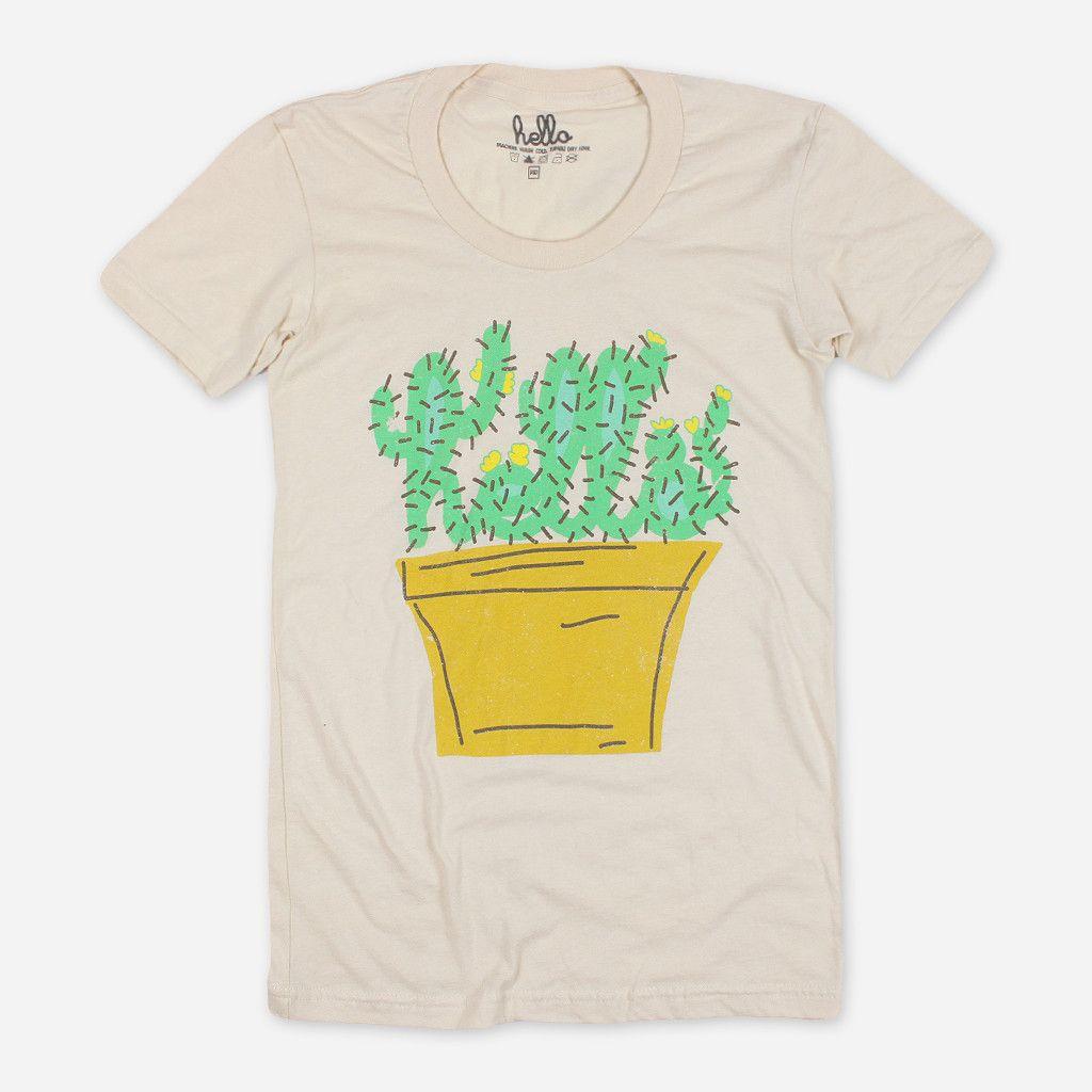 Cactus (Adult) Womens Cream Summer T-Shirt - Hello Apparel - Hello Merch