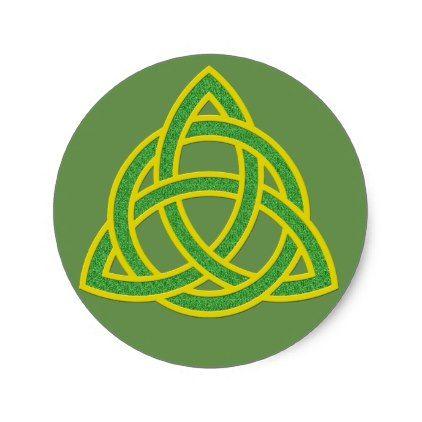 Triskel classic round sticker st patricks day gifts saint patricks day saint patrick ireland irish