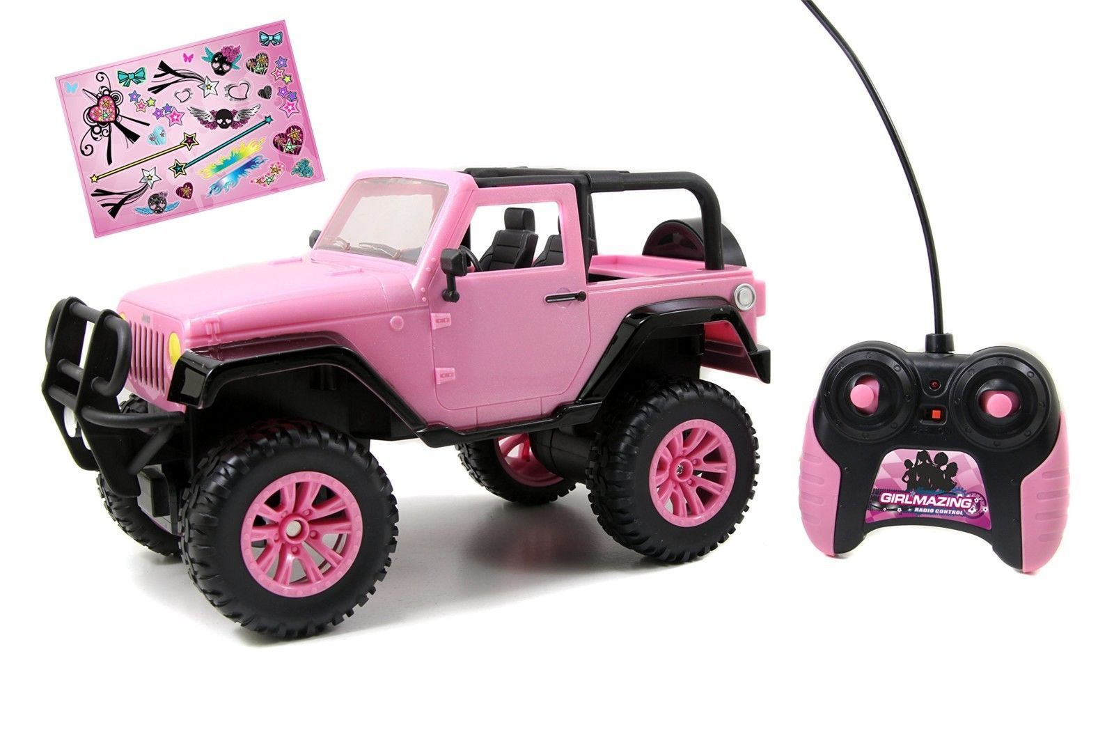 Rc Vehicle Remote Control Toys Big Foot Jeep Pink Teen Girl Barbie
