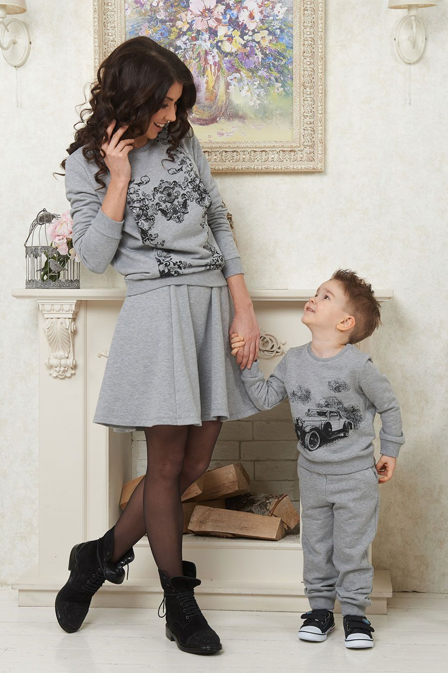 matching mother and son sweaters montefalco and velletri