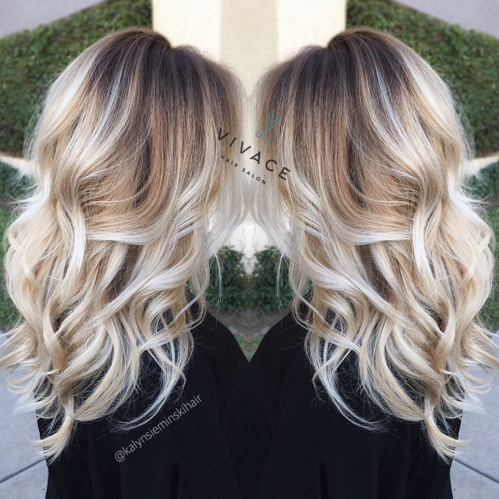 beautiful balayage hairstyles beautiful bright blonde and