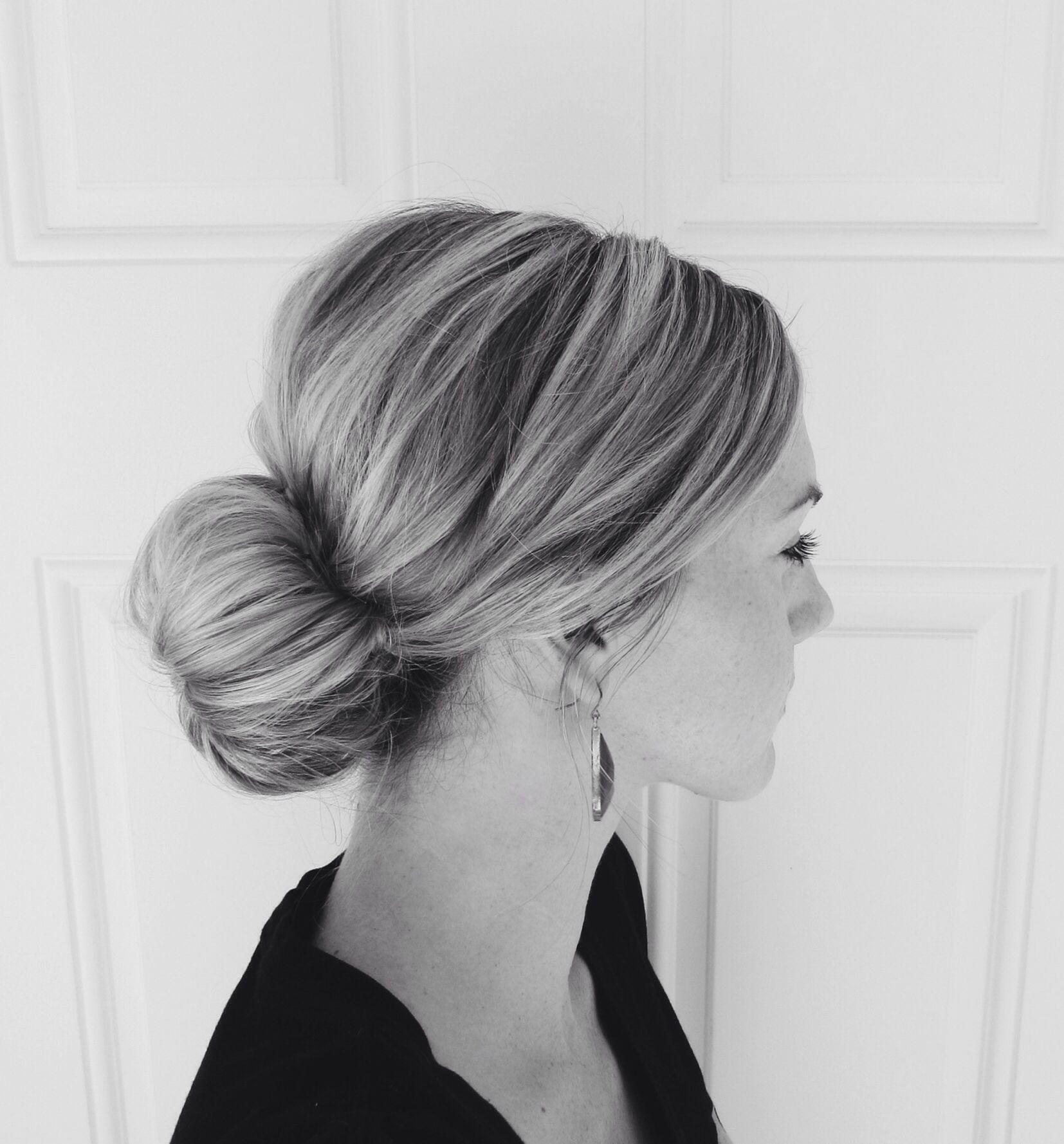 Wedding Hairstyle Low Bun: Interview Hairstyles, Flight