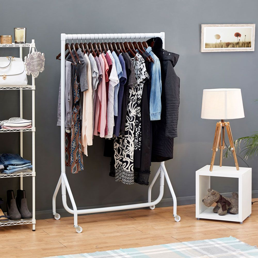 2ft to 6ft Gloss White Heavy Duty Clothes Rail & Clothes Rails provide a funky and fun angle to practical clothes ...