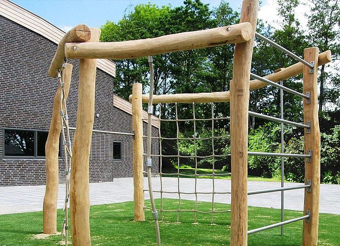 Klettergerüst Holz Kinderzimmer : Klettergerüst garten holz csm klettersechseck klettergeraet robinie