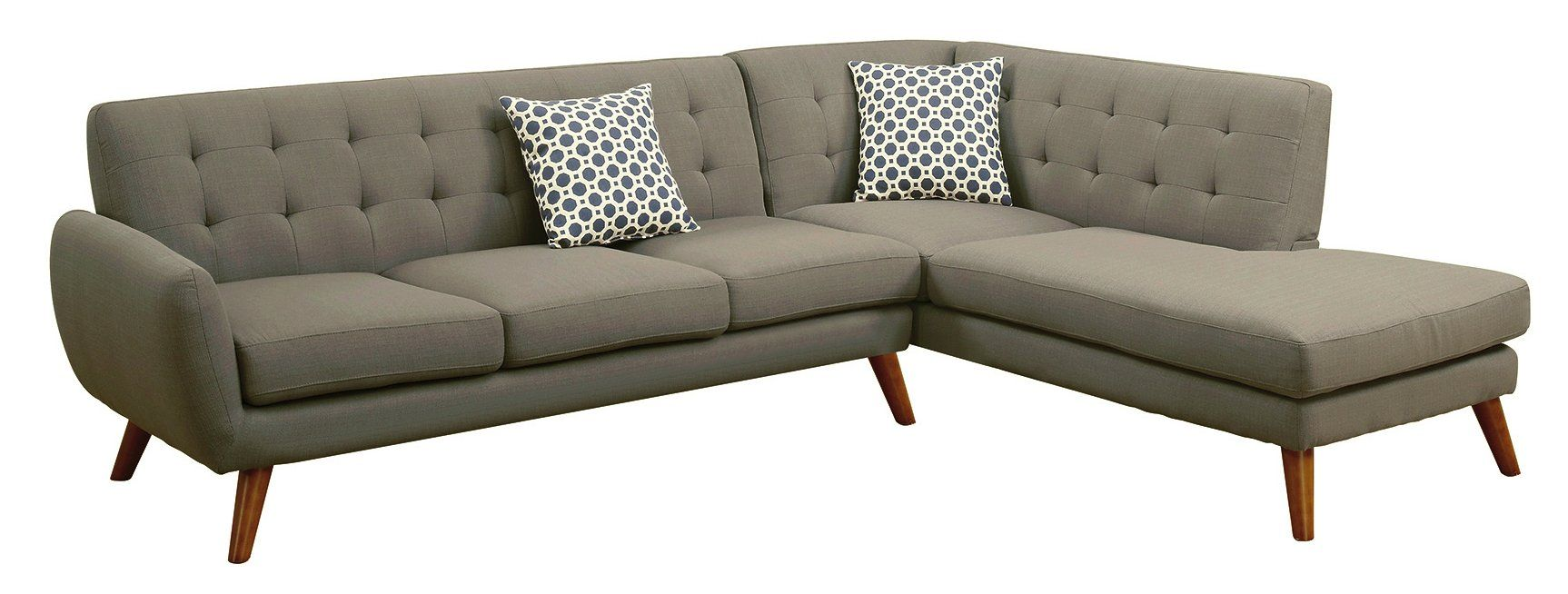 Bobkona Belinda Sectional Double Check That The 111 Width Will Fit Retro Sofa Sectional Sofa Couch Mid