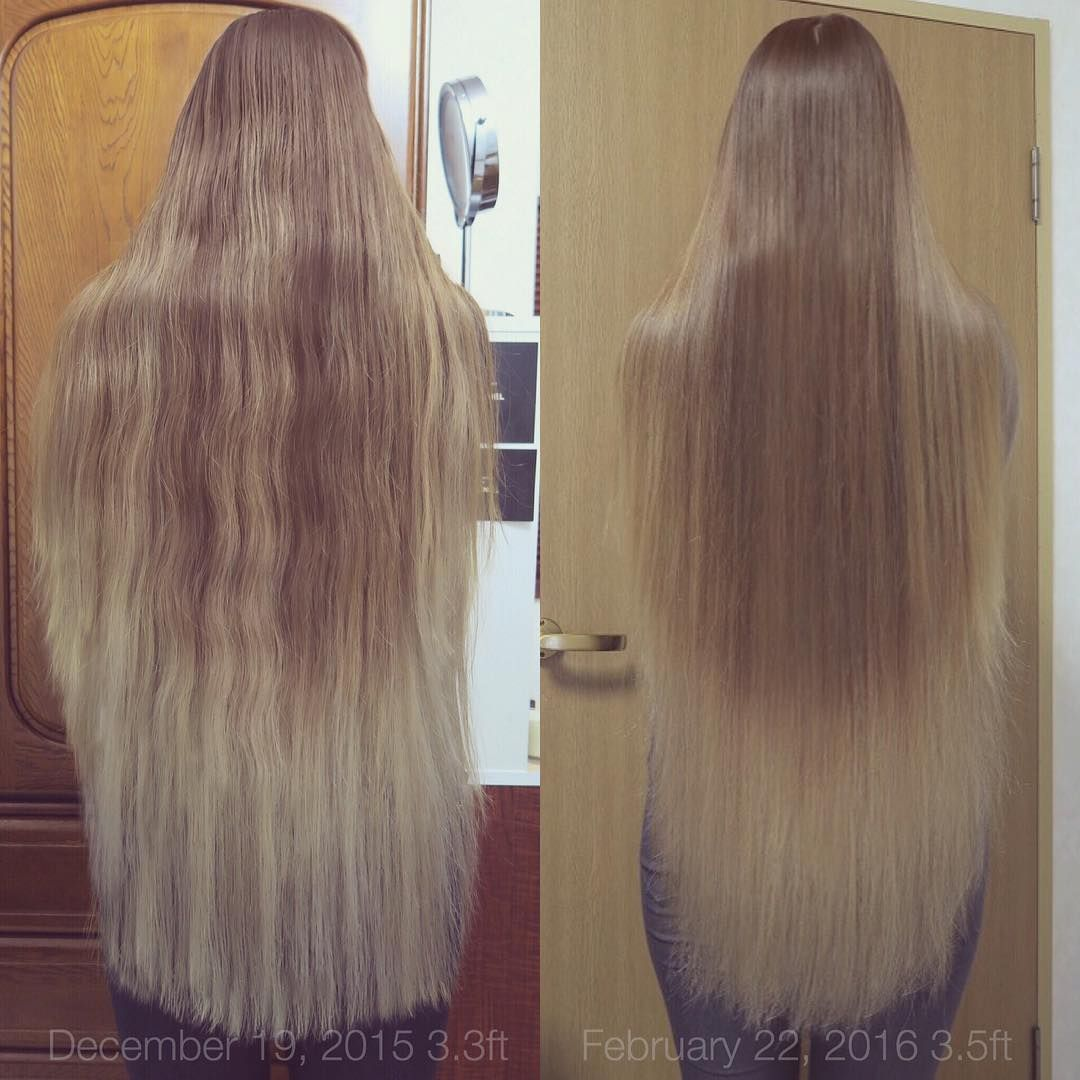 How much hair grows per month 85