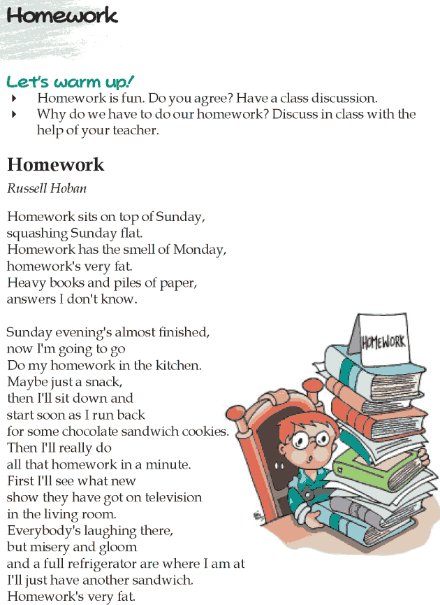 homework by russell hoban analysis