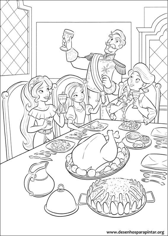 Elena And Family Colouring Page Elena Of Avalor Cartoon