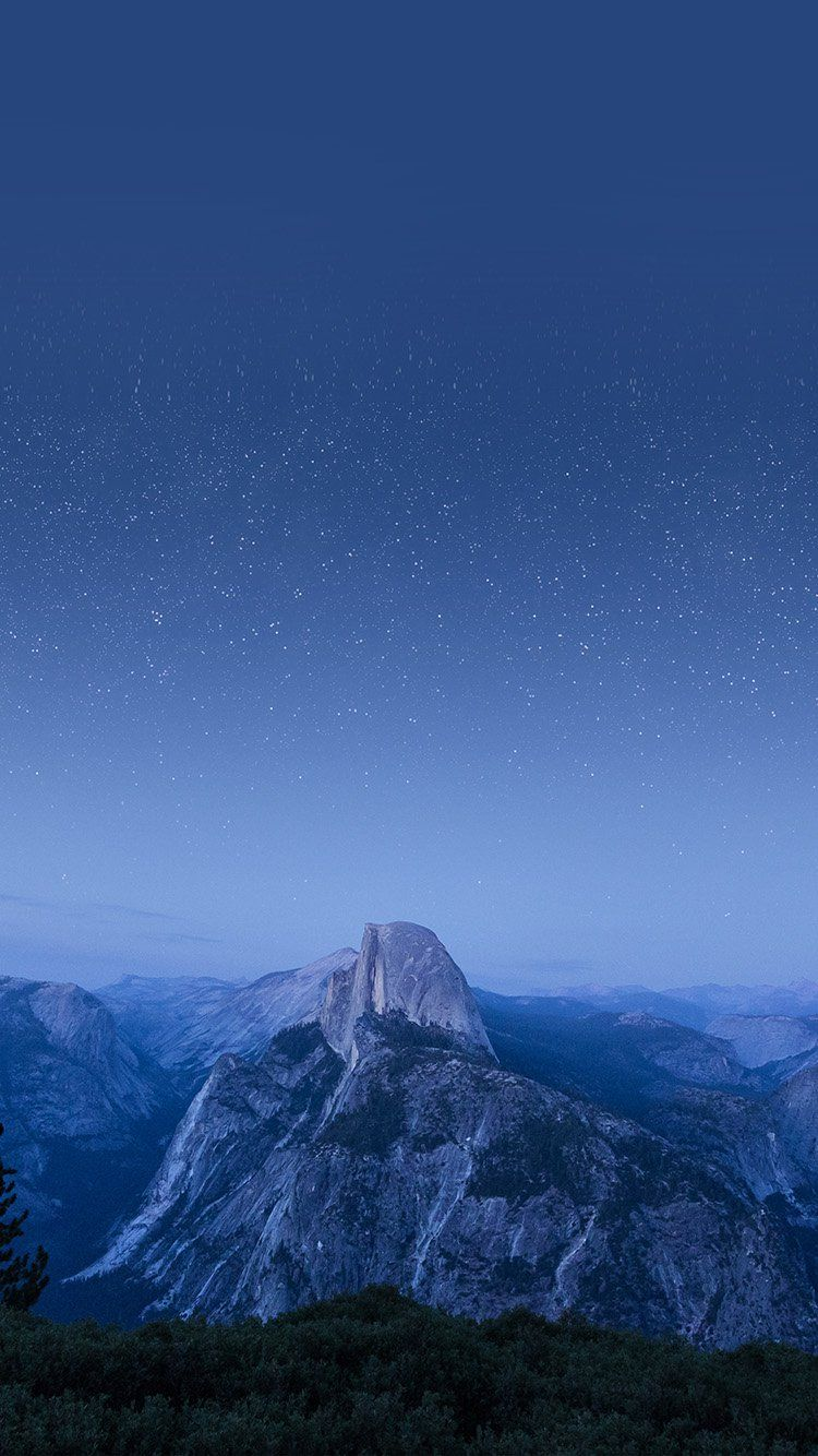 Mw09 El Capitan Mountain Wood Night Sky Star Blue In 2019