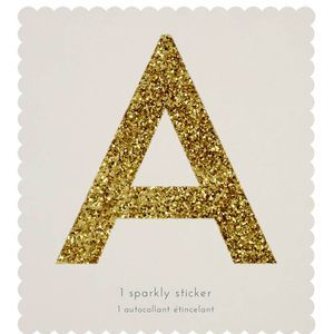 Giant Gold Sparkle Letter Stickers Diy Craft Alphabet Stickers Lettering Glitter Letters