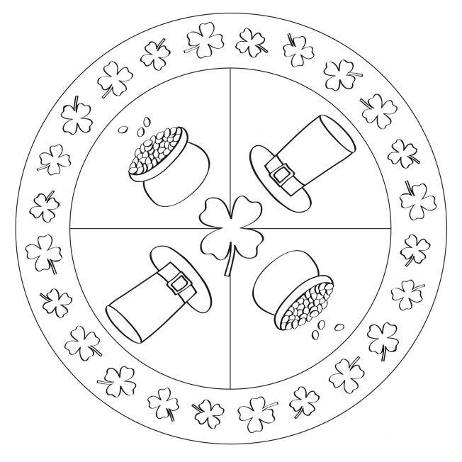 St Patrick 39 s Day Mandala for preschool kindergarten and