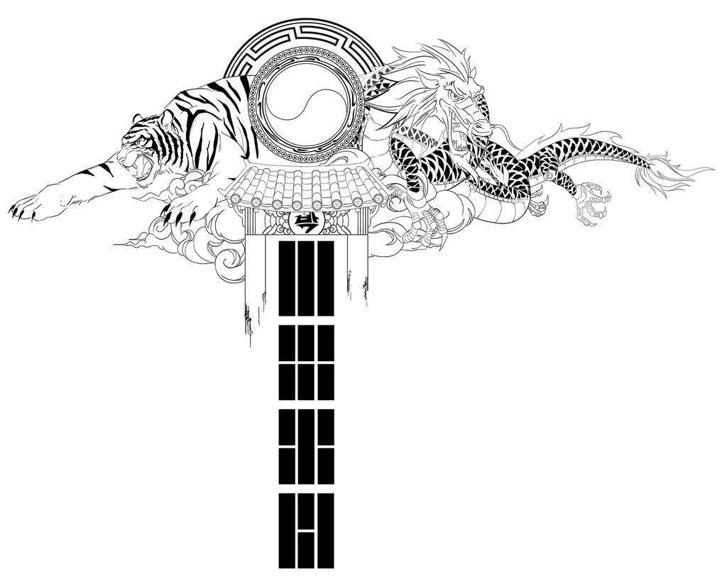 Korean Dragon Tattoo Meaning: Traditional Korean Tattoo, Back Piece