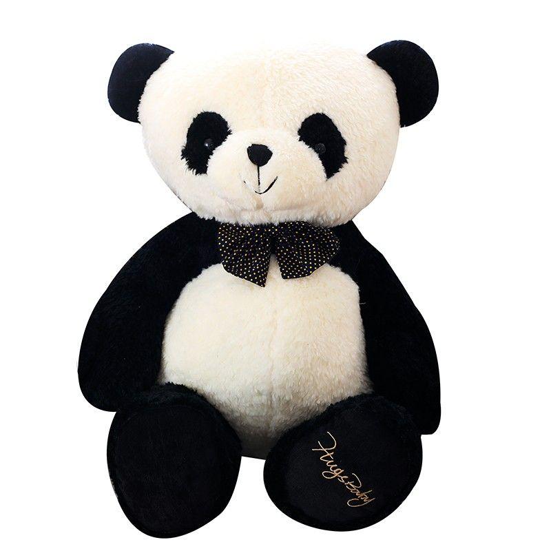 Panda Soft Toy Super Soft Stuffed Panda Bear With Bow Knot Panda