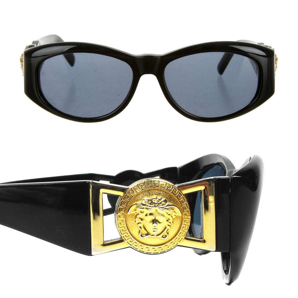 7dee3855f9 VERSACE SUNGLASSES - BLACK + GOLD MEDUSA TINTED GLASSES GIANNI ...