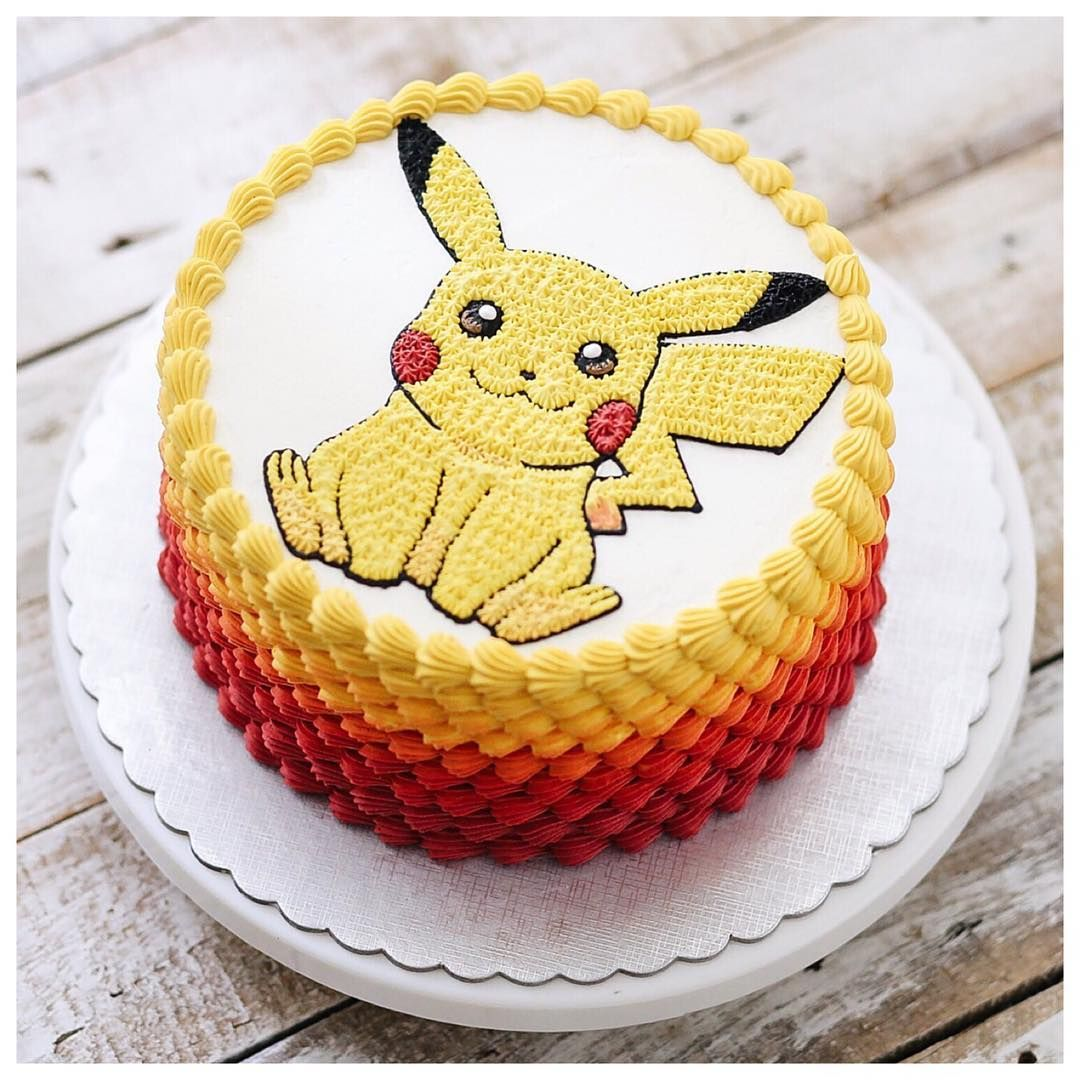 Go pikachu pokemon cake pastalar pinterest gateau anniversaire decoration gateau et - Decoration gateau pokemon ...