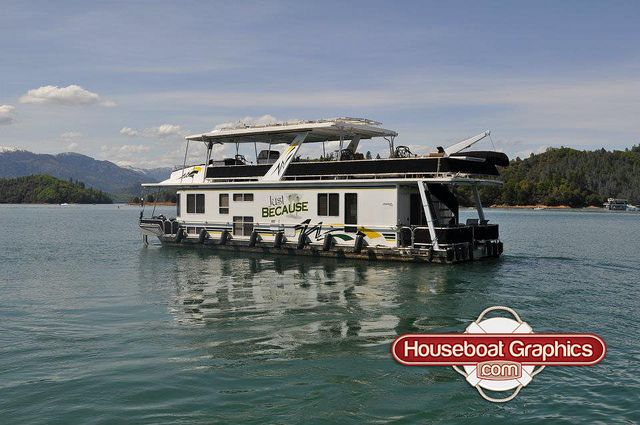 Homeawayfromhome Justbecause Check Out These Custom Houseboats - Custom designed houseboat graphics