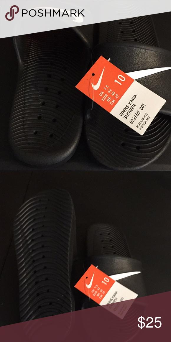 e28012051201 Nike Kawa Shower Sandals Nike Kawa Shower Sandals Black White Nike Shoes  Sandals