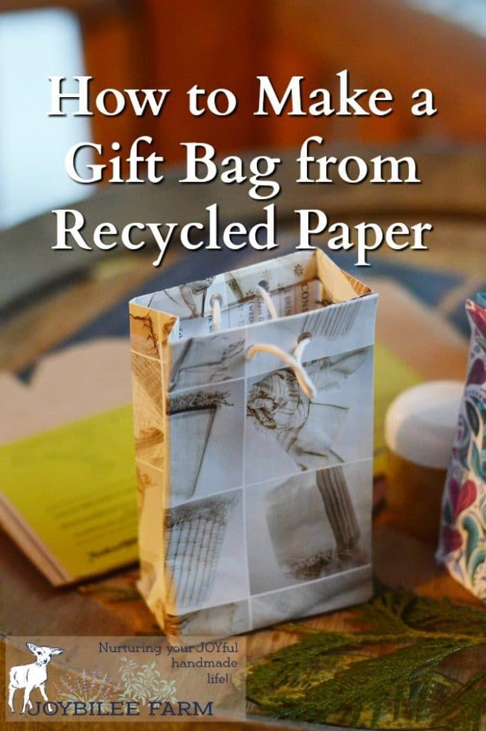 How To Make A Gift Bag From Beautiful Recycled Papers