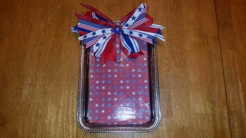 4th of July photo frame or magnetic board