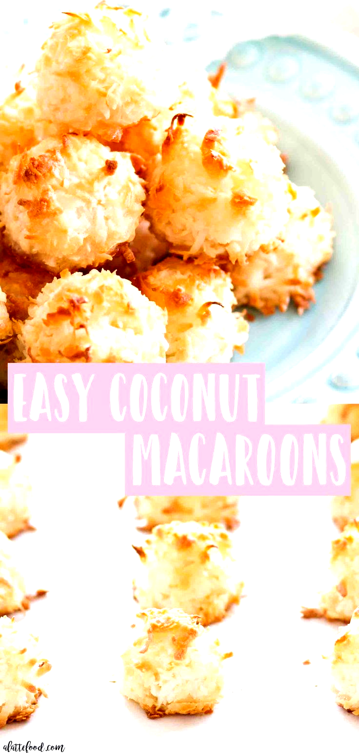 This Super Easy Coconut Macaroons Recipe Are Made With Egg Whites And Sugar And Are The Best Gluten Free Dessert Many Chewy Coconut Macaro Coconut Macaroons Best Gluten Free Desserts Macaroon