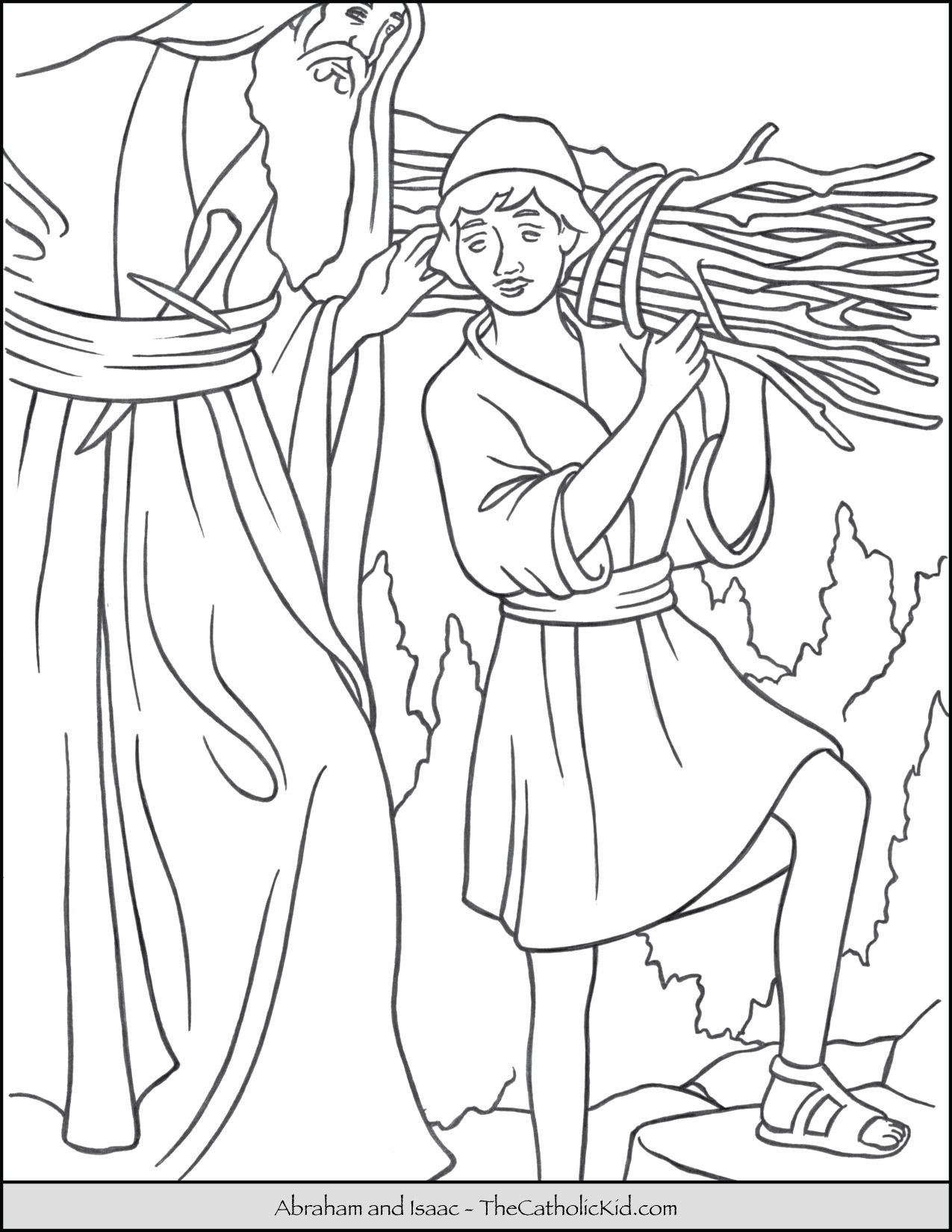 47+ Coloring page of abraham and isaac free download