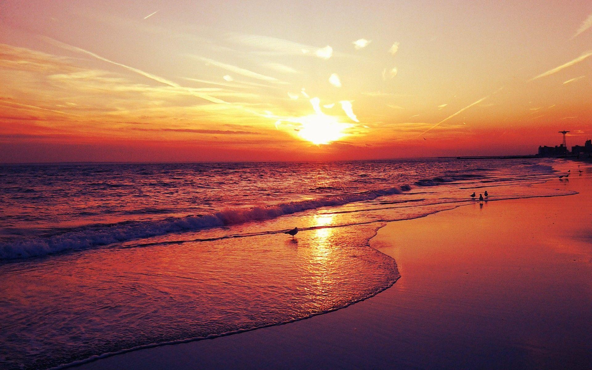 Permalink to Hq Beach Sunset Wallpaper