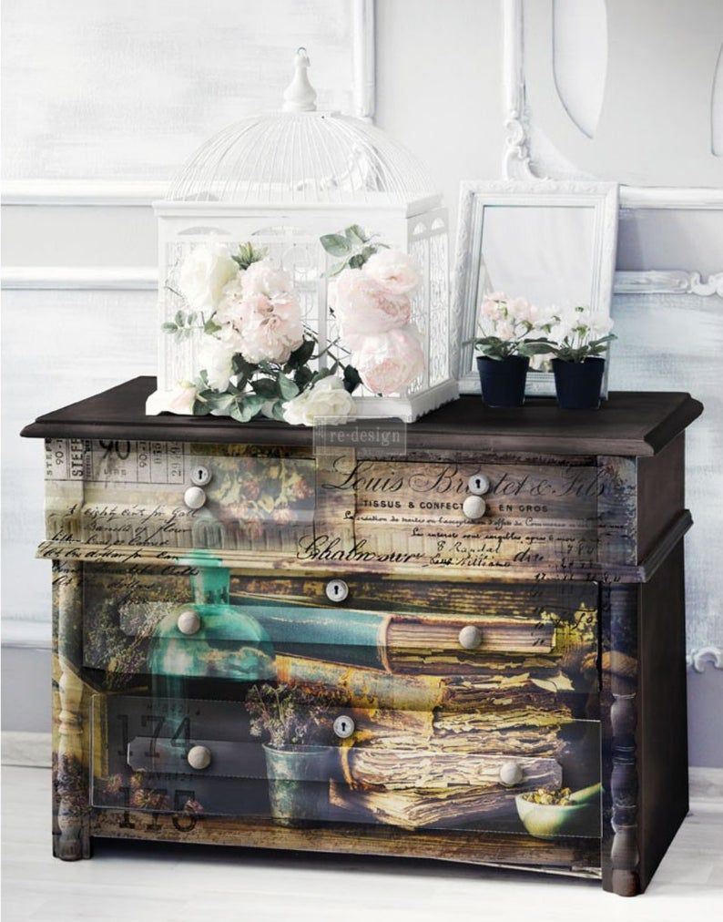 Furniture Transfer Rub On Transfer Redesign With Prima Precious Collection Vintage Books Literature Scripts Words Rx Furniture Decal Rub On Transfers Furniture Decor