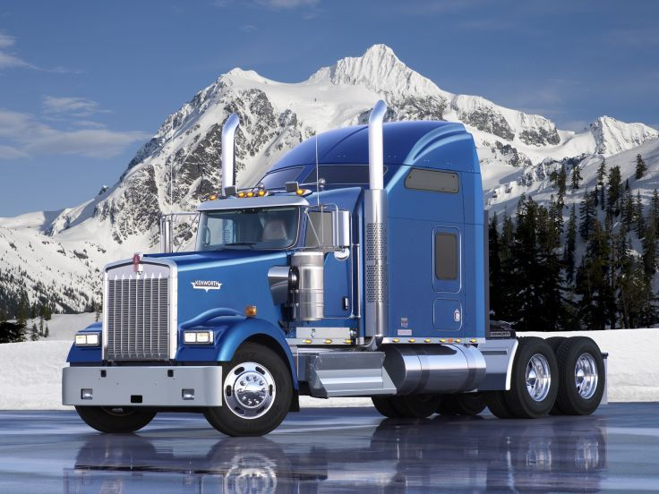 2005 Kenworth W900l Semi Tractor G Wallpaper Background Con