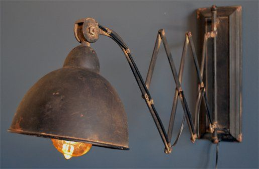 The industrial revolution walls lights and industrial electric library scissor wall light aloadofball Images