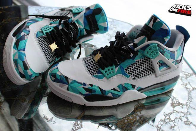 reputable site b797e 79d3d Air Nike Jordan Retro 4 Mens Simplicity Diamond Shoes in Multi-color