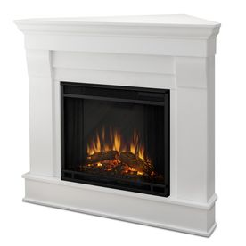 Product Image 4 Corner Electric Fireplace White Electric