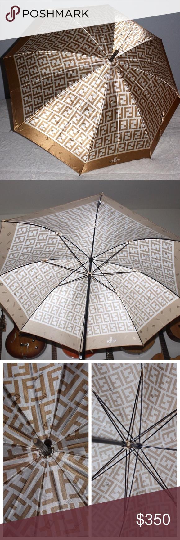 Fendi Zucca Umbrella Print Umbrella Fendi Umbrella