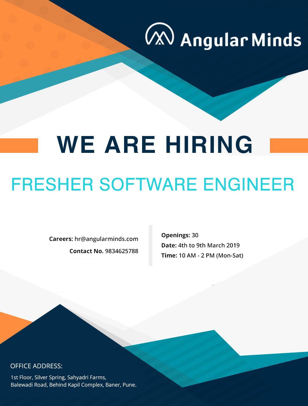 Direct WalkIn For Fresher Software Developer No. of
