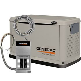 Generac Guardian 6242 A 17kw Standby Generator System 100a 16 Circuit Automatic Switch Generator House Whole House Generators Standby Generators