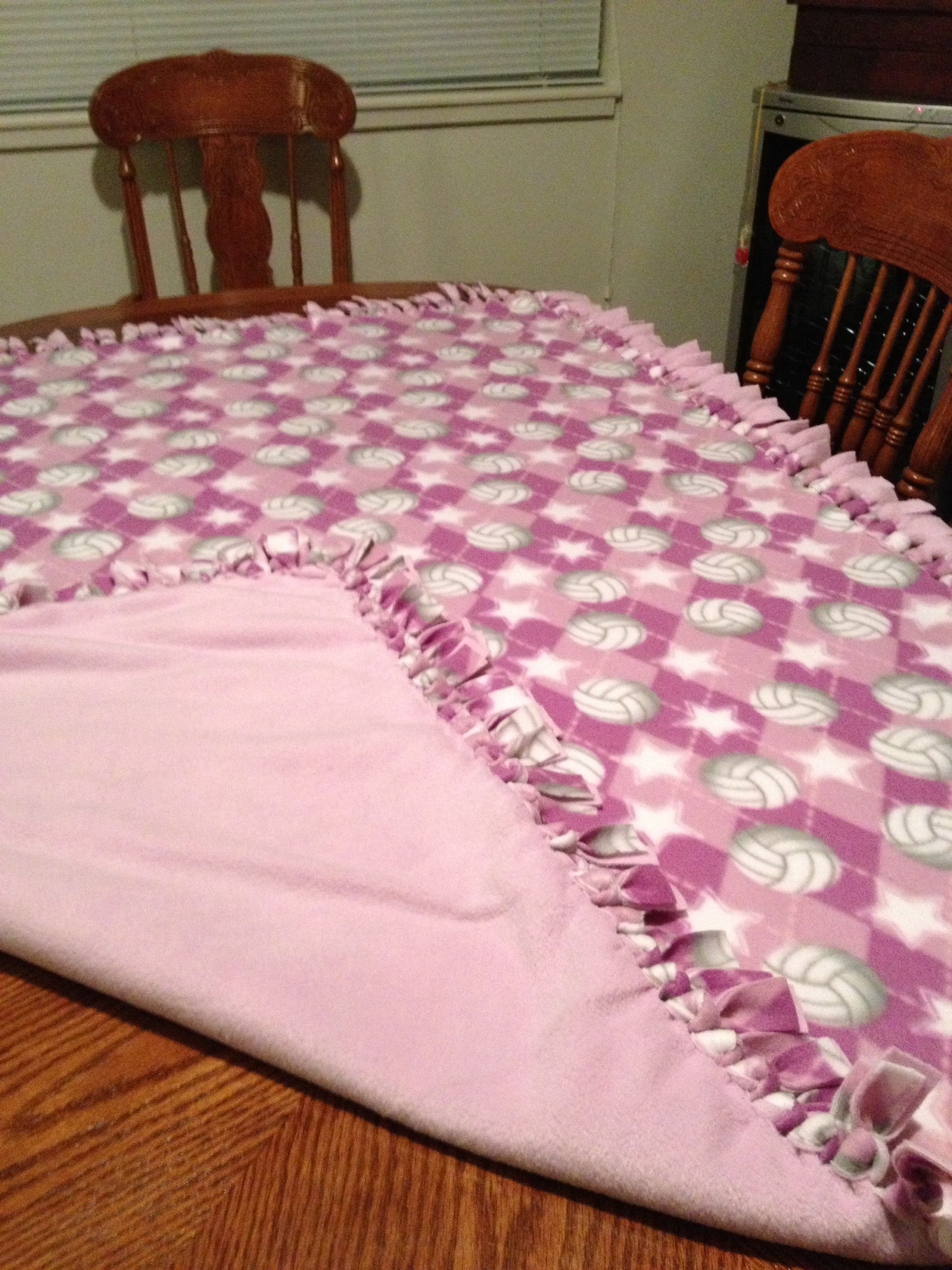 Volleyball No Sew Blanket No Sew Blankets Blanket Diy Blanket