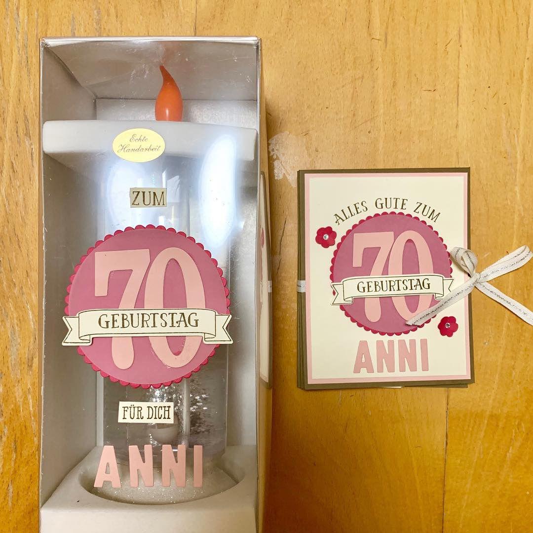 Geschenk Aus Kerze Und Ziehharmonika Karte Zum 70 Geburtstag Mit