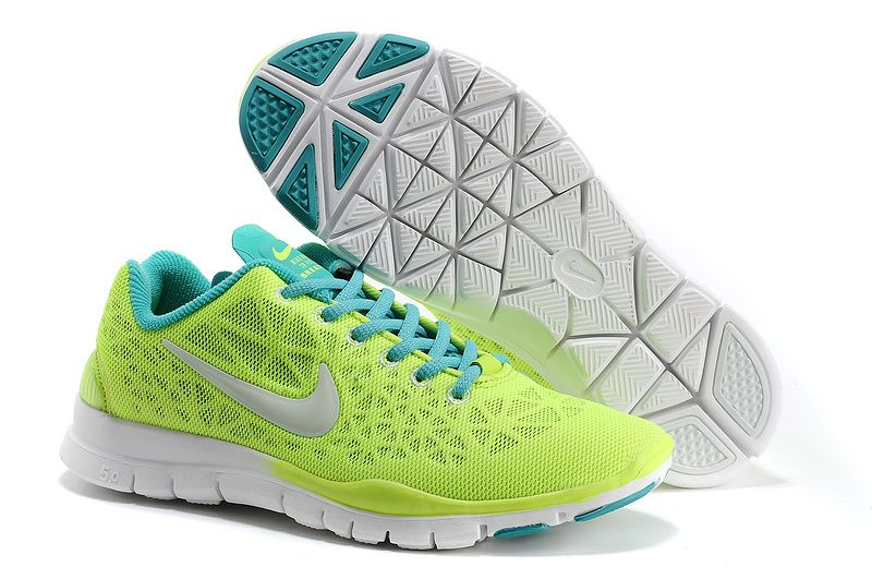 bc3a471bc40ad Mens Nike Free TR Fit 3 Breathe GreenYellow Blue White Shoes want ...