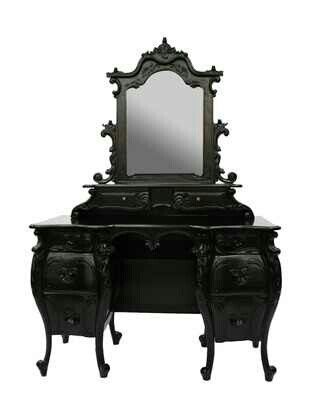Villa} Gothic dressing table #black #gothic #furniture ...