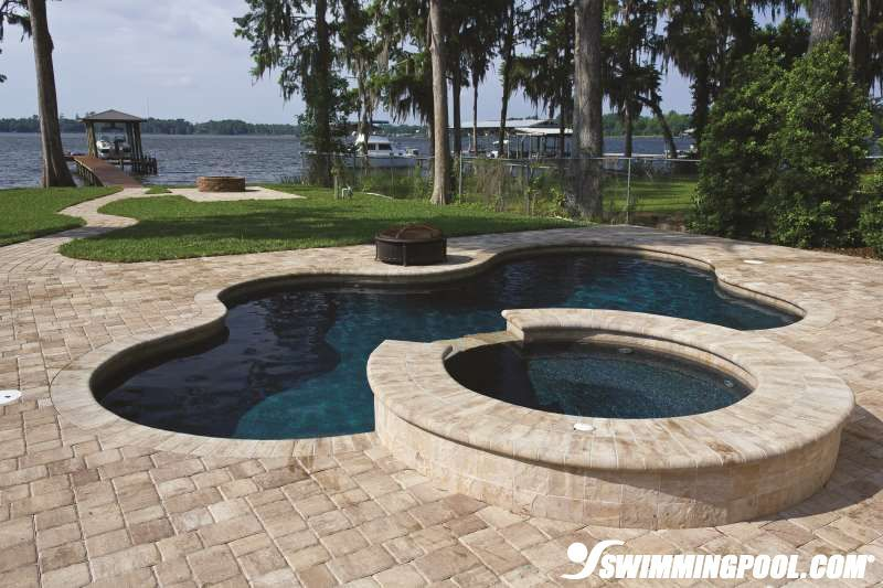 brick pavers are an excellent decking choice around inground pools