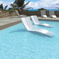 Tropitone modern chaise for commercial market. So cool ...
