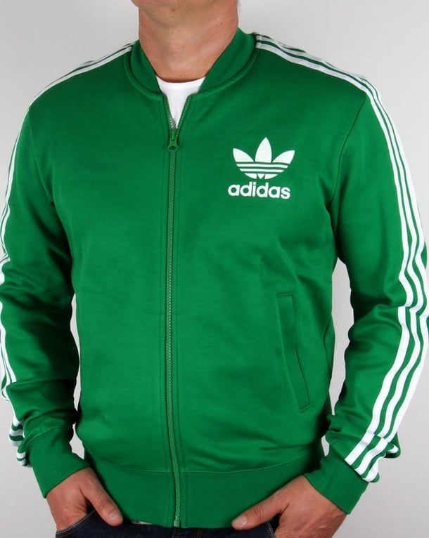 4b920c4f4c Adidas Originals Superstar Track Top Green/White | Adidas in 2019 ...