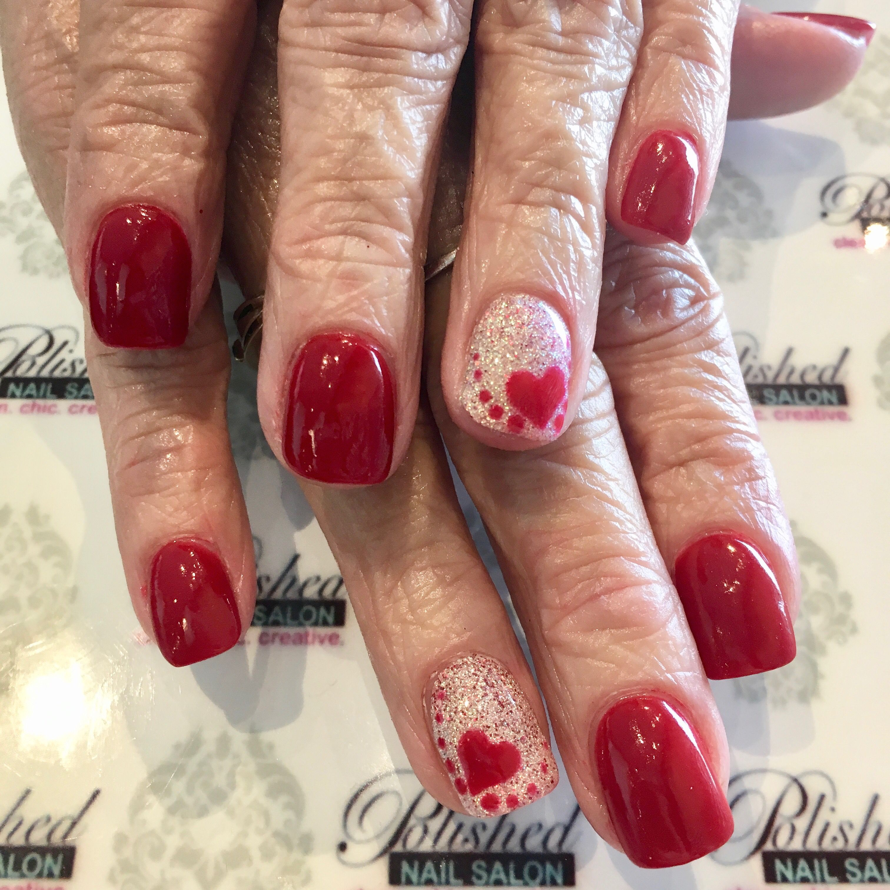 Valentine S Nail Art On Dipping Powder Valentines Nails Nail Designs Valentines Valentine S Day Nails