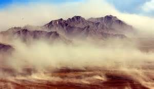sudden blown desert sand