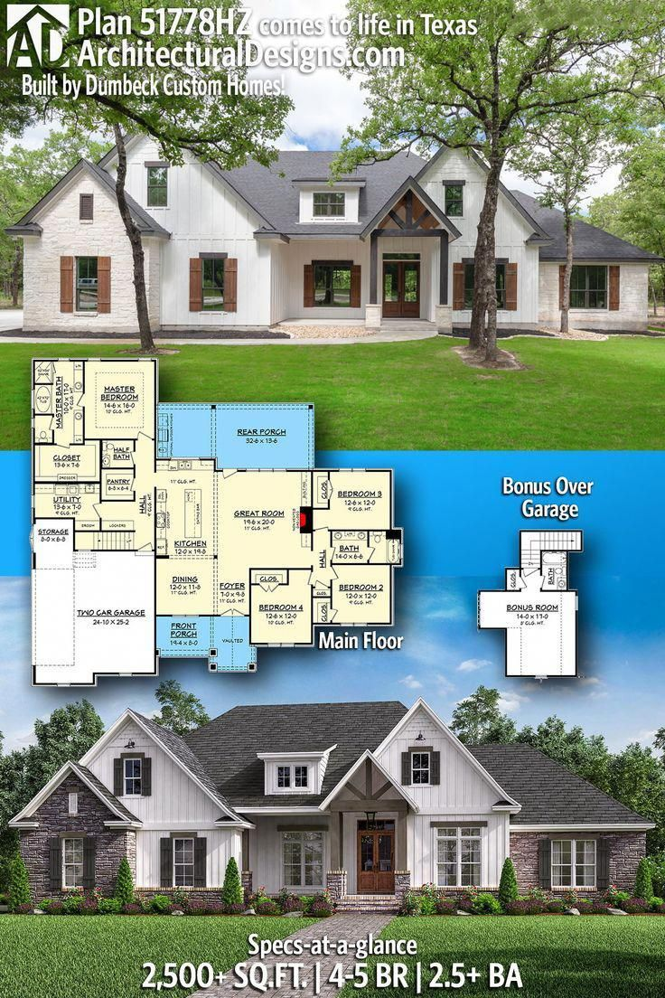Architectural Designs Rugged Craftsman Plan 51778hz Client Built In Texas By Dumbeck Custom Homes In 2020 Craftsman House Plans Craftsman House House Plans Farmhouse