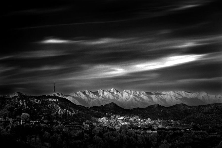 The earth in black and white...