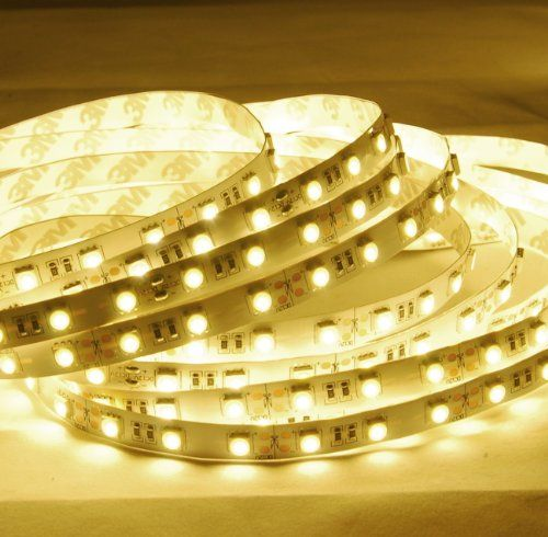 Abi Warm White High Brightness Flexible Led Light Strip With Ac Adapter Smd 5050 Led Chips 5 Meters 164 Led Strip Lighting Flexible Led Light Led Light Strips