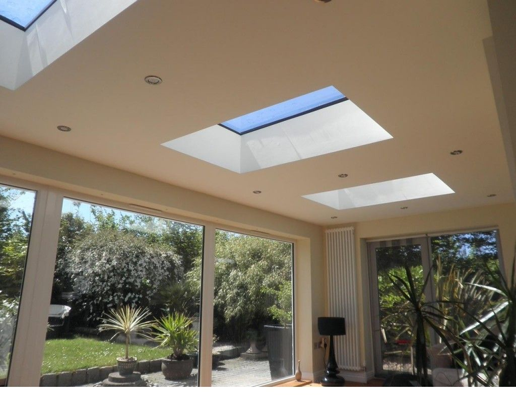 Structurally Bonded Fixed Rooflight For Flat And Pitched Roof Applications Flush Glass Roof Light Design With P Flat Roof Lights Flat Roof Extension Flat Roof
