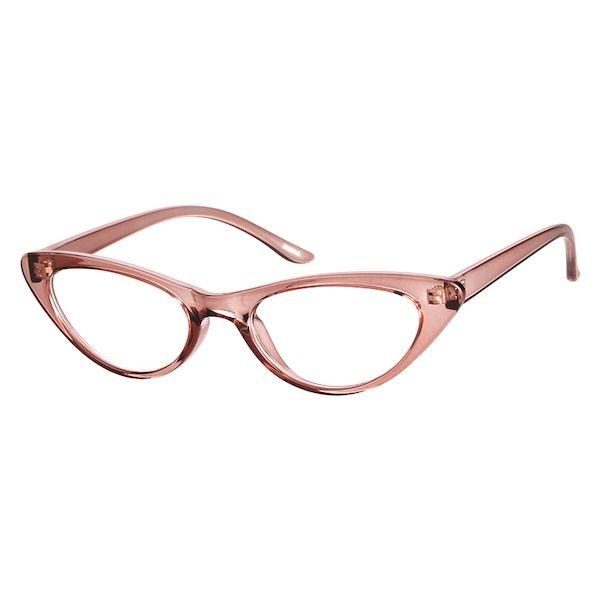 d3961ec7b0 Zenni Womens Retro Cat-Eye Prescription Eyeglasses Brown TR 2025615 ...